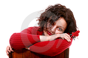 Girl In Red Stock Photography - Image: 8975592