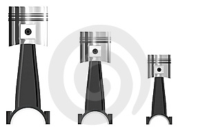 Trois Pistons Photo stock - Image: 8976360