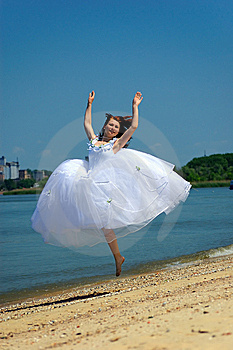 Bride On A Beach Royalty Free Stock Image - Image: 8979456