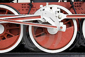 Railway Wheels Of Engine Royalty Free Stock Image - Image: 8979486