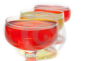 Yellow, Red Jelly Diagonal Party Two Royalty Free Stock Photography - Image: 8980077