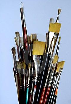 Paintbrushes Arkivfoto - Bild: 8981190