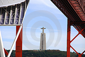 Christ Rei Statue From The Bridge Royalty Free Stock Photography - Image: 8981517