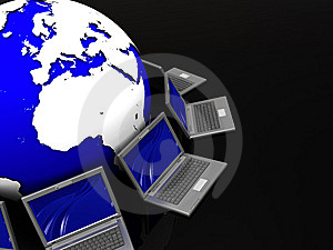 Laptops Network Stock Images - Image: 8981534