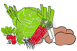 Vegetables On A White Background Royalty Free Stock Images - Image: 8981919