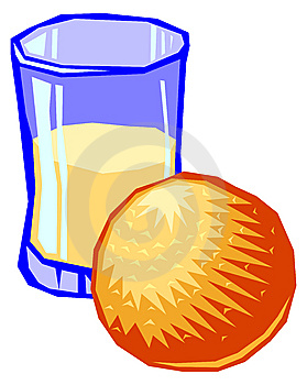 Ilustration Of A Glass Of Orange Juice Stock Photography - Image: 8982632