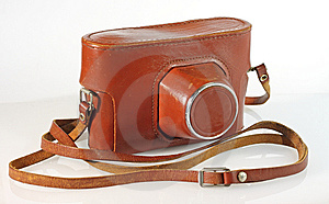 Old  Photo Camera Leather Case Royalty Free Stock Photography - Image: 8984607