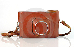 Old  Photo Camera Leather Case Stock Image - Image: 8984671
