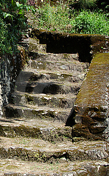 Stone Stair Along The Track Stock Image - Image: 8984831