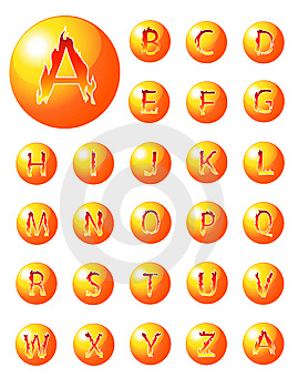 Collection D'alphabet Du Feu Photos libres de droits - Image: 8984998