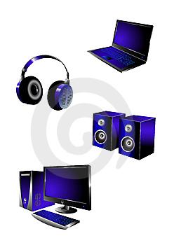 Multimedia Icons Royalty Free Stock Photo - Image: 8985065
