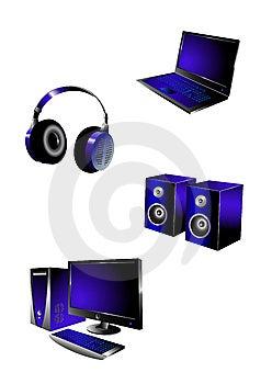 Multimediaikonen Lizenzfreies Stockfoto - Bild: 8985065