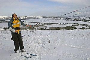 Kite Skiing Royalty Free Stock Image - Image: 8986596