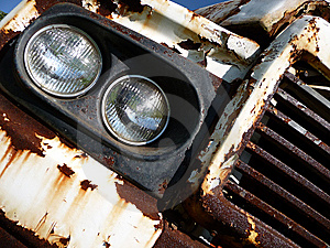 Rusty Car Grill Headlight 2 Stock Photography - Image: 8986902