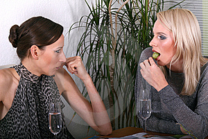 Women Gossiping And Eating Stock Images - Image: 8987244