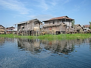 Fishing Huts In The Lake Stock Images - Image: 8988134