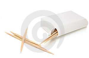 Box With Wooden Toothpicks Royalty Free Stock Image - Image: 8988436