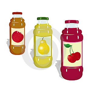 Bottles With Juicy Royalty Free Stock Images - Image: 8992719
