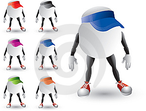 Isolated Ping Pong Ball Characters With Visors Royalty Free Stock Photos - Image: 8993548