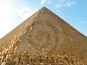 Northern Side Of The Great Pyramid  Royalty Free Stock Photos - Image: 8993568