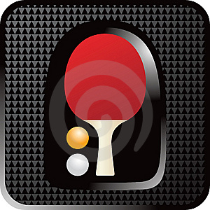 Ping Pong Paddle Web Button Stock Photo - Image: 8993760