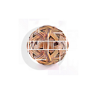 Wicker Ball Royalty Free Stock Images - Image: 8994309