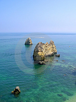 Grotto In Portugal, Algarve Royalty Free Stock Photography - Image: 8994757