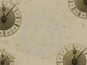 Grunge Clock Royalty Free Stock Images - Image: 8995489