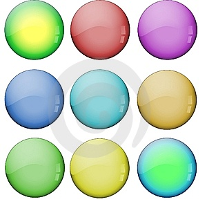 Colored Glass Buttons Royalty Free Stock Image - Image: 8996366