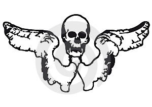 Skull And Wings (vector) Royalty Free Stock Image - Image: 8996576