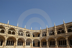 Arcades Of Jerónimos' Monastery Royalty Free Stock Photo - Image: 8996885