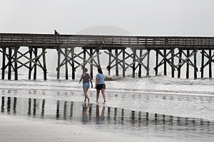 Walking On Beach Royalty Free Stock Photos - Image: 8997168