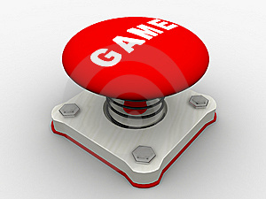 Red Start Button Stock Photography - Image: 8997312