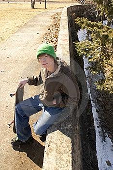 Skateboardfahrer Stockbild - Bild: 8997971