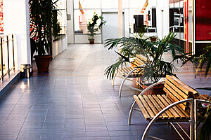 Interior Of Modern Public Buildings Free Stock Photography