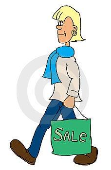 Girl With A Bag Free Stock Photos