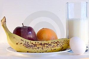Frühstücks-Menü Stockbild