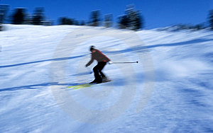 Skier In Action 8 Free Stock Images
