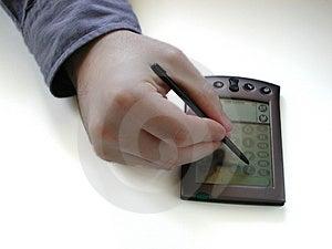 Pda And Hand Free Stock Image