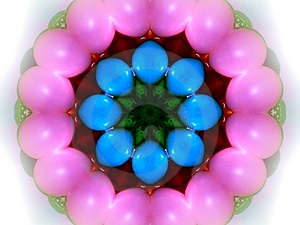 Easter Eggs Kaleidoscope Free Stock Photo