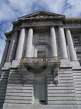 Балкон здание муниципалитета Стоковое Изображение RF