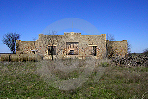 Fieldstone Ruin Stock Photo