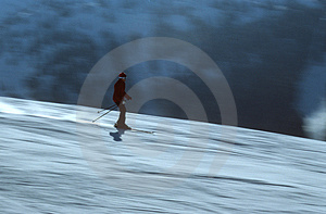 Skier In Action 4 Stock Photos