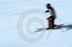 Skier in action 2 Royalty Free Stock Photo