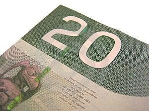 Canadian 20 Stock Photo