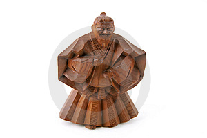 Wise Man Woodcarving Stock Photo