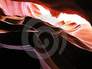 Inside Antelope Canyon 11 Stock Photography