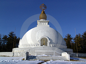 Leverett Peace Pagoda Royalty Free Stock Image