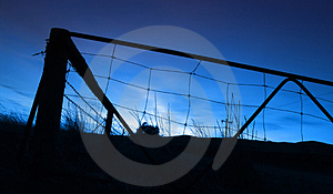 Αγροτική ανατολή Στοκ Φωτογραφίες