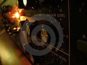 Panel de control de Moog Foto de archivo libre de regalías